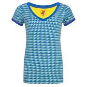 Shirt Grafisch korte mouw v hals Halsoverkop
