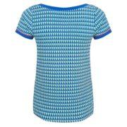 Shirt Grafisch korte mouw v hals achterkant Halsoverkop