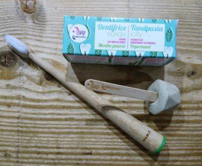 Lamazuna tandpasta en Mable tandenborstel